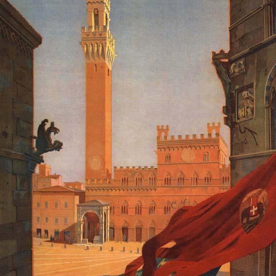 Detail Of Siena Italy Italia | Best of Vintage Ad Art 1891-1970