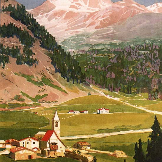 Detail Of Solda Altitude 1900 Meters Italy Italia | Best of Vintage Ad Art 1891-1970