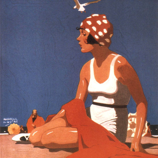 Detail Of Southern Pacific California Beaches 1923 | Best of 1920s Ad and Cover Art