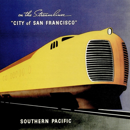 Detail Of Southern Pacific Chicago City San Francisco 1936 | Best of Vintage Ad Art 1891-1970