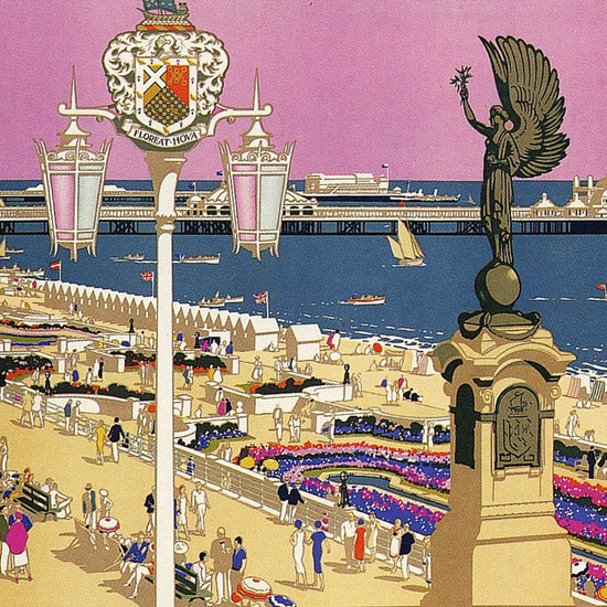 Detail Of Southern Railway Brighton And Hove 1930s | Best of Vintage Ad Art 1891-1970