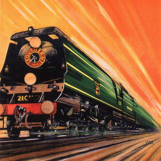 Detail Of Southern Railway First In The Field 1946 L Carr | Best of Vintage Ad Art 1891-1970
