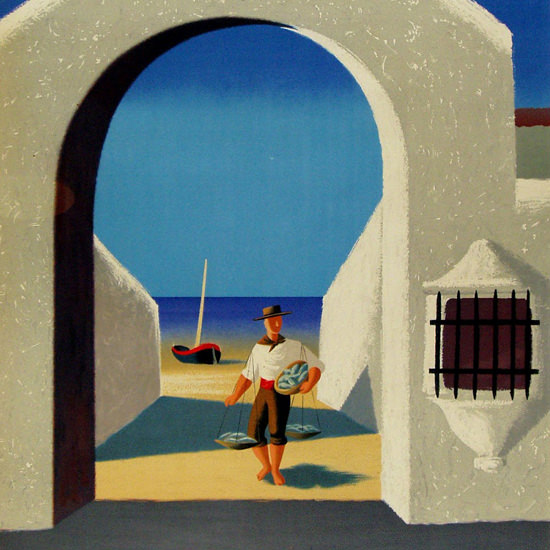 Detail Of Spain Archway 1948 | Best of 1940s Ad and Cover Art