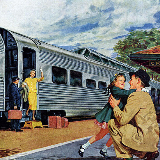 Detail Of Stainless Steel Train Allegheny Stainless | Best of Vintage Ad Art 1891-1970