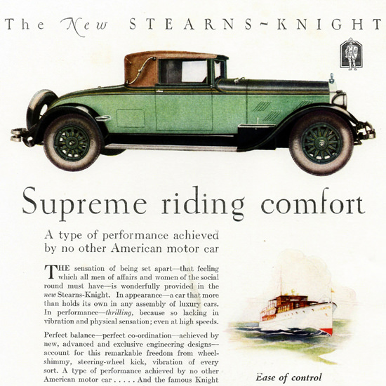Detail Of Stearns Knight Cabriolet Cleveland 1927 | Best of 1920s Ad and Cover Art