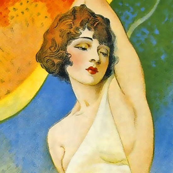 Detail Of Stolen Love Owen Moore Marceline Day Movie B 1928 | Best of Vintage Ad Art 1891-1970