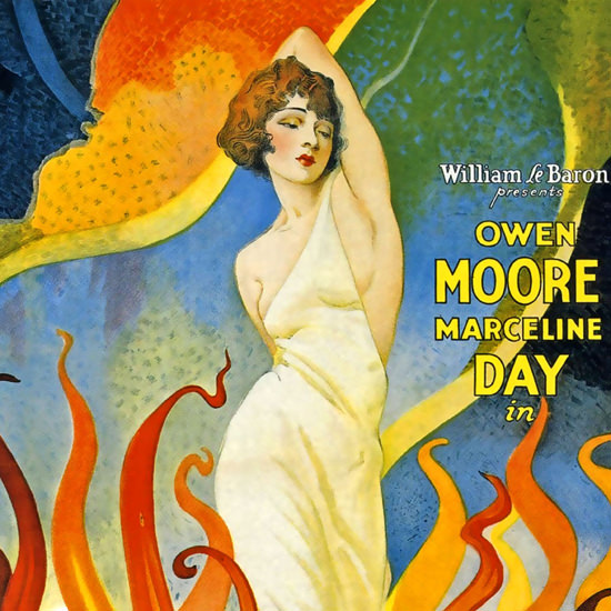 Detail Of Stolen Love Owen Moore Marceline Day Movie 1928 | Best of 1920s Ad and Cover Art