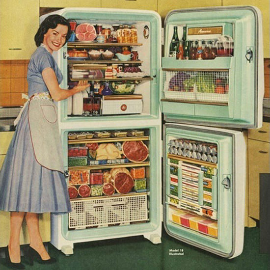 Detail Of Stor-Mor Freezer Refrigerator | Best of Vintage Ad Art 1891-1970