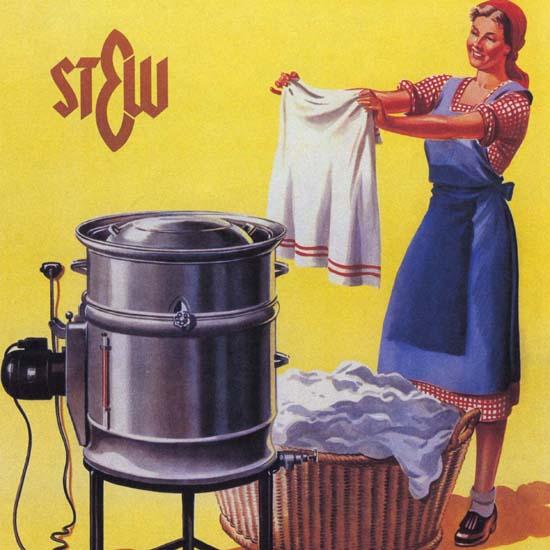 Detail Of Strom Hilft Waschen Sehr Bequem Und Billig | Best of Vintage Ad Art 1891-1970