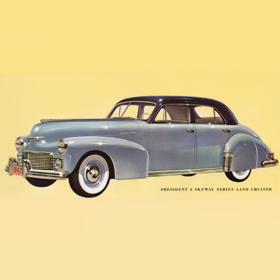 Detail Of Studebaker President 8 Skyway Land Cruiser 1942   Best of 1940s Ad and Cover Art