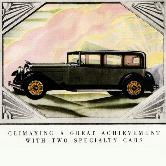 Detail Of Stutz Blackhawk Body Le Baron Weymann 1929 | Best of 1920s Ad and Cover Art