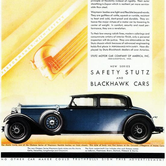 Detail Of Stutz Blackhawk Monte Carlo Body Weymann 1930   Best of Vintage Ad Art 1891-1970
