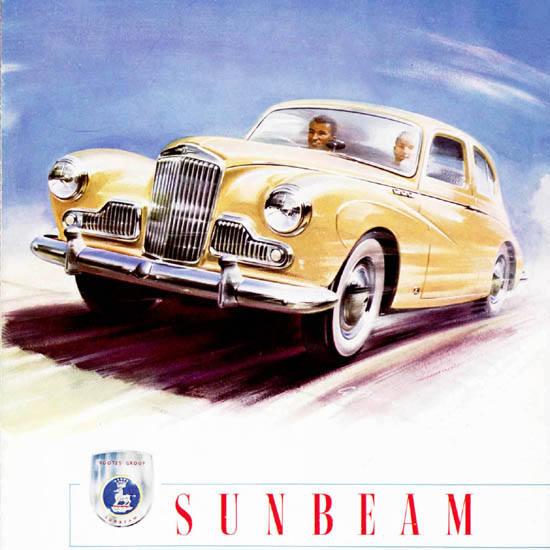 Detail Of Sunbeam Mark III Sports Saloon Sports 1956 | Best of Vintage Ad Art 1891-1970