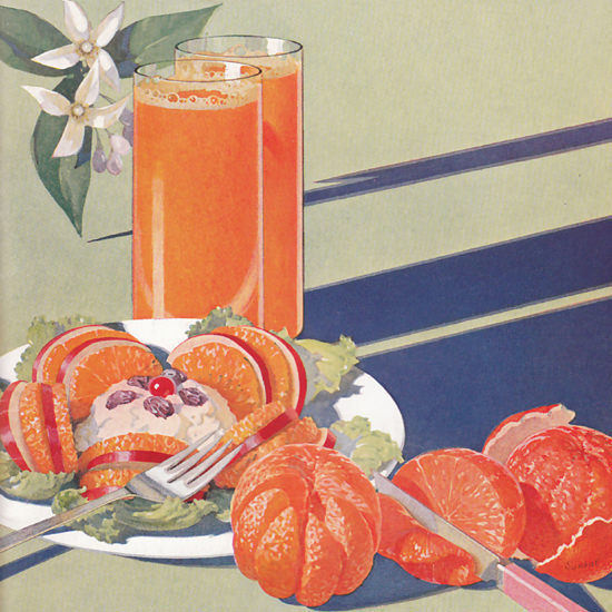 Detail Of Sunkist Recipes For Every Day | Best of Vintage Ad Art 1891-1970