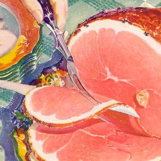 Detail Of Swift Premium Ham Ovenized 1933 | Best of Vintage Ad Art 1891-1970