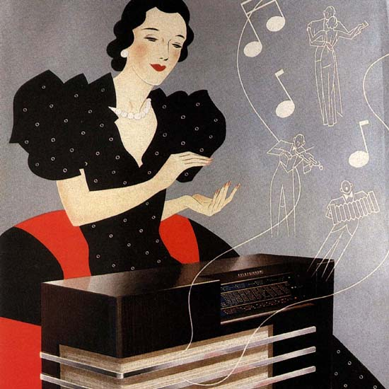 Detail Of Telefunken Radio Germany Deutschland   Best of Vintage Ad Art 1891-1970