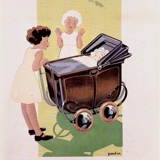 Detail Of Terrot 1934 La Grande Marque Des Tout Petits | Best of Vintage Ad Art 1891-1970