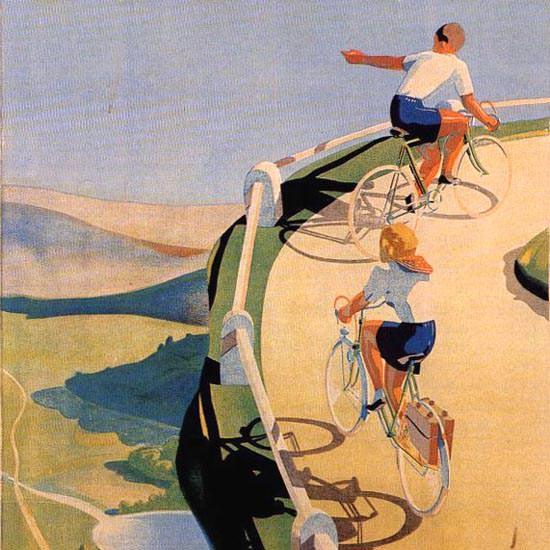 Detail Of Terrot Cie Dijon Bicycles 1939 J Le Tord | Best of Vintage Ad Art 1891-1970