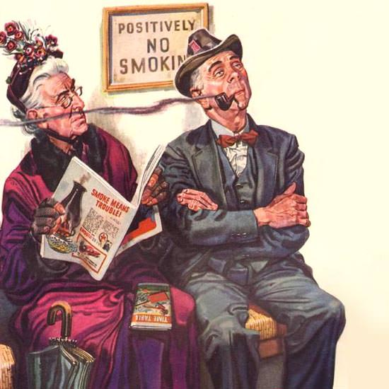 Detail Of Texaco Smoke Means Trouble No Smoking 1941 | Best of Vintage Ad Art 1891-1970