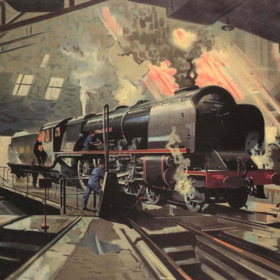 Detail Of The Day Begins LMS United Kingdom | Best of Vintage Ad Art 1891-1970