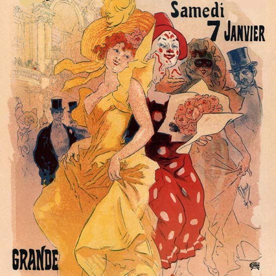 Detail Of Theatre Do L Opera Grande Fete Bal Masque | Best of Vintage Ad Art 1891-1970