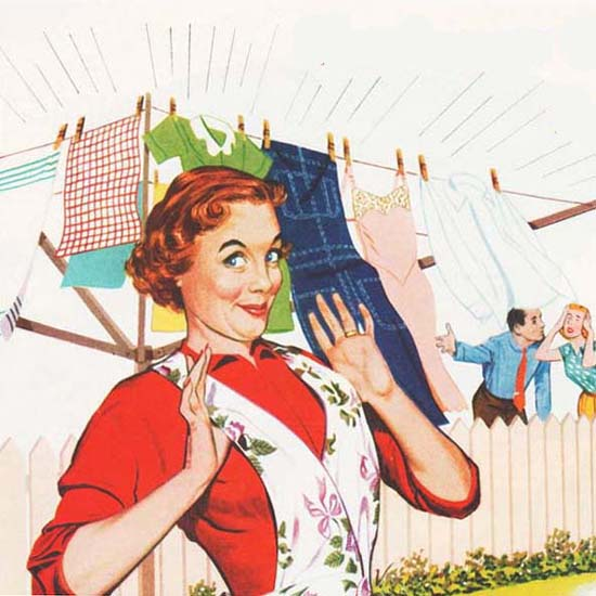Detail Of Tide Laundry Detergent She Hangs The Cleanest   Best of Vintage Ad Art 1891-1970