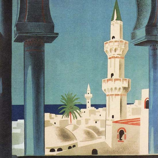 Detail Of Tripoli 1930s | Best of Vintage Ad Art 1891-1970