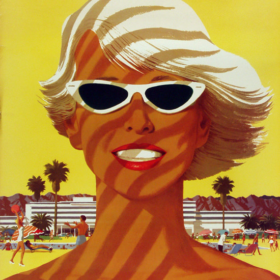 Detail Of United Air Lines Southern California Girl 1955 | Best of Vintage Ad Art 1891-1970