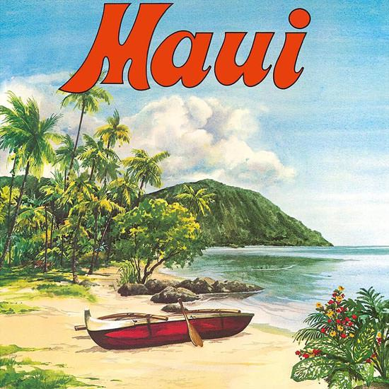Detail Of United Airlines Hawaii Maui | Best of Vintage Ad Art 1891-1970