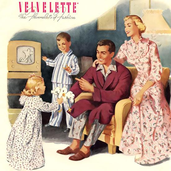 Detail Of Velvelette Night Fashion | Best of Vintage Ad Art 1891-1970