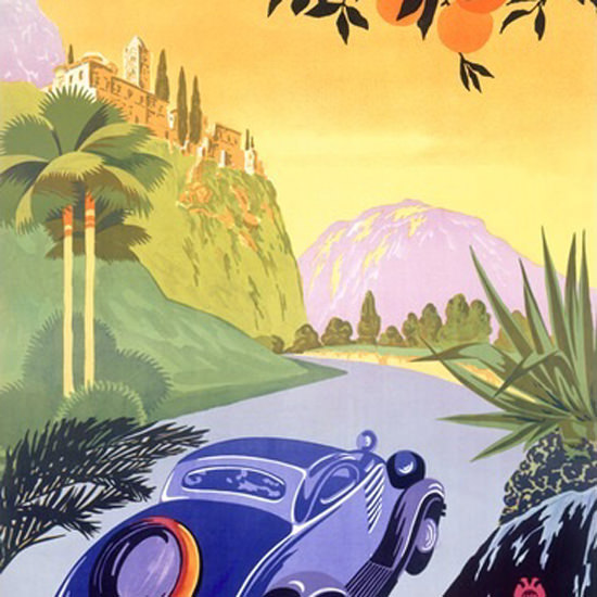 Detail Of Visitez La Grece En Auto Visit Greece By Car | Best of Vintage Ad Art 1891-1970