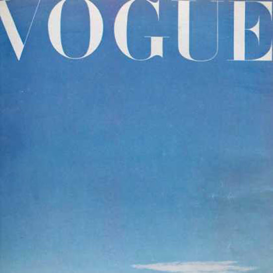 Detail Of Vogue Cover Copyright 1945 Blue Sky | Best of 1940s Ad and Cover Art