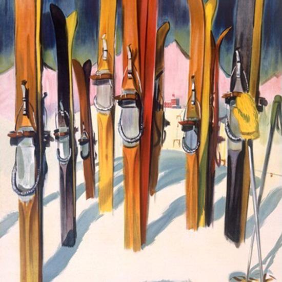 Detail Of Wallis Das Land Der Sonne Valais Switzerland | Best of Vintage Ad Art 1891-1970