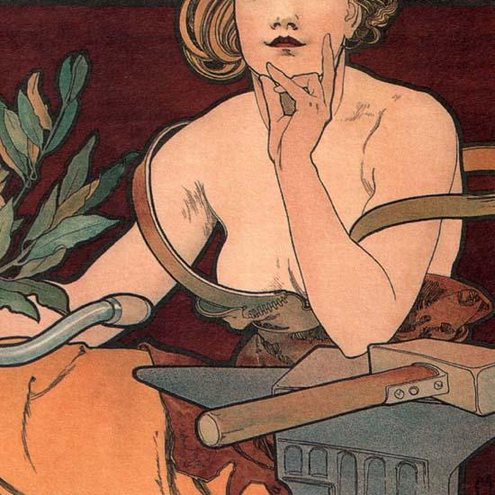 Detail Of Waverley Cycles Paris France | Best of Vintage Ad Art 1891-1970