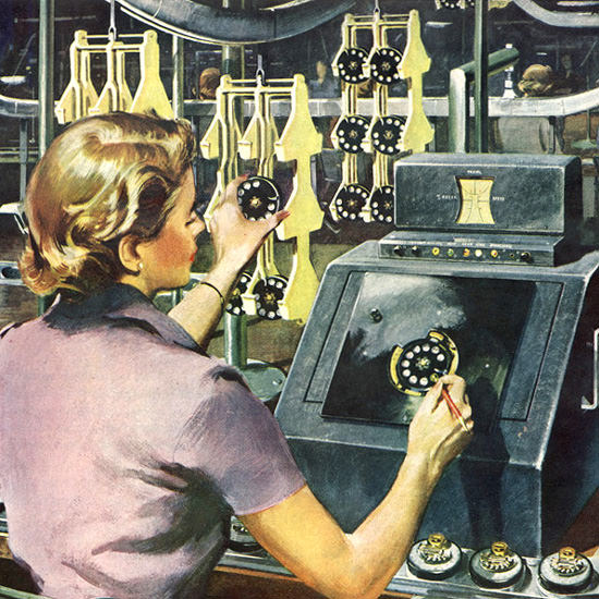 Detail Of Western Electric Telephone Familiar Miracle | Best of Vintage Ad Art 1891-1970
