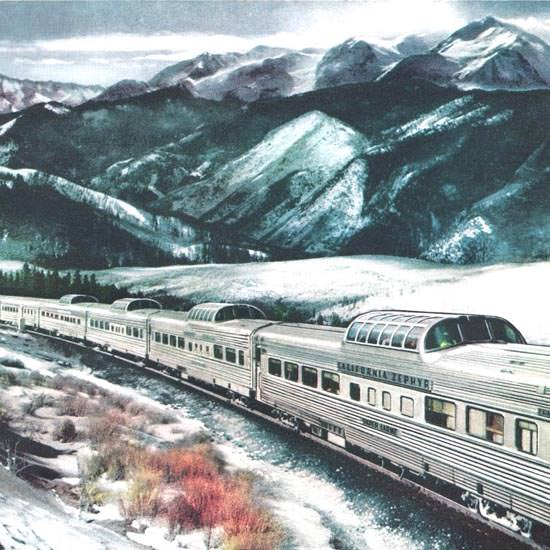 Detail Of Western Pacific California Zephyr Dome 1958 | Best of Vintage Ad Art 1891-1970