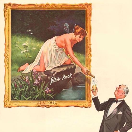 Detail Of White Rock Water Nude And Gentlemen 1941 | Best of Vintage Ad Art 1891-1970