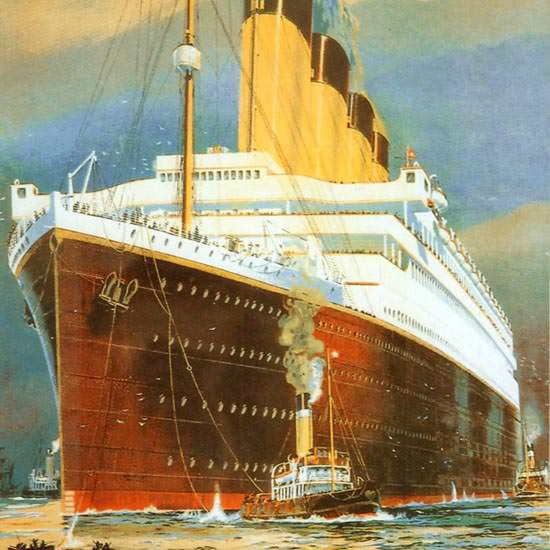 Detail Of White Star Line Europe To America 1910s | Best of Vintage Ad Art 1891-1970