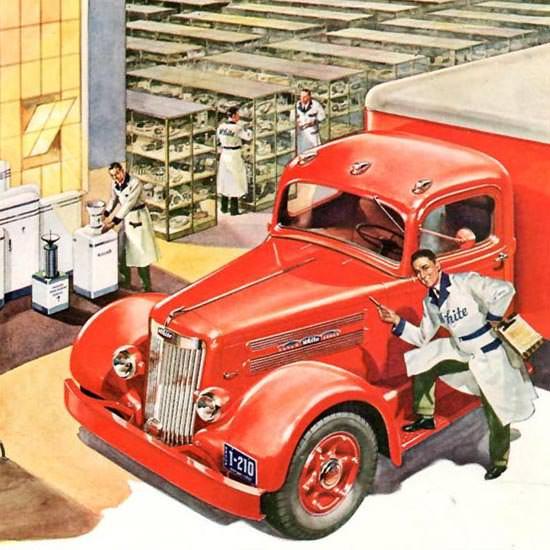 Detail Of White Trucks 1942   Best of Vintage Ad Art 1891-1970