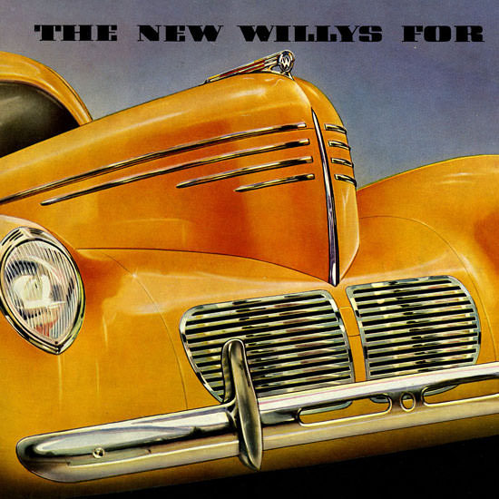 Detail Of Willys Full Line 1940 | Best of Vintage Ad Art 1891-1970