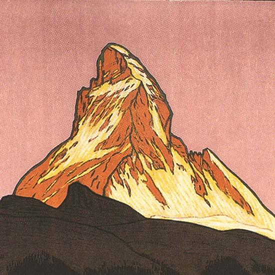 Detail Of Zermatt Matterhorn 4505m Switzerland Schweiz | Best of Vintage Ad Art 1891-1970