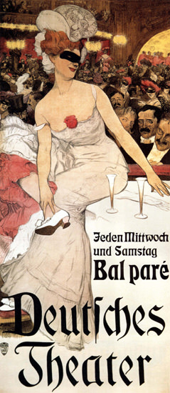 Deutsches Theater Bal Pare Germany 1906 | Sex Appeal Vintage Ads and Covers 1891-1970