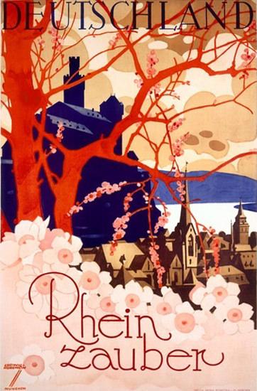 Deutschland Rheinzauber Rhine Magic Germany   Vintage Travel Posters 1891-1970
