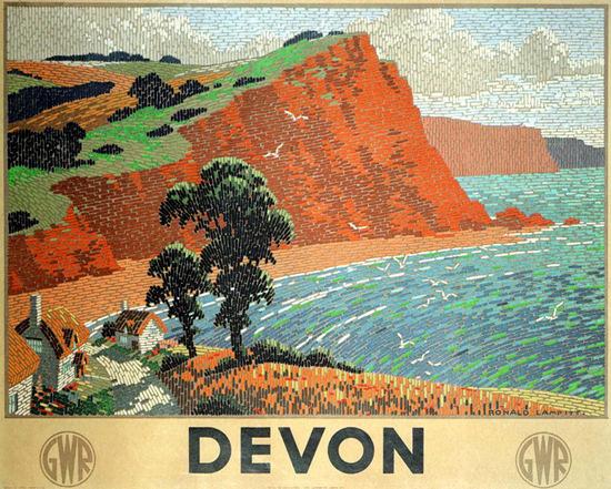 Devon GWR Ronald Lampitt 1936 | Vintage Travel Posters 1891-1970