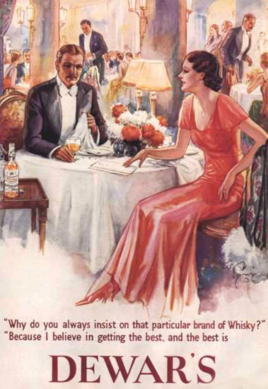 Dewars Whisky 1930 | Sex Appeal Vintage Ads and Covers 1891-1970