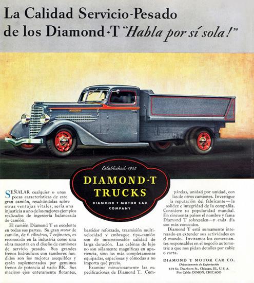 Diamond T Dump Truck Chicago 1934   Vintage Cars 1891-1970