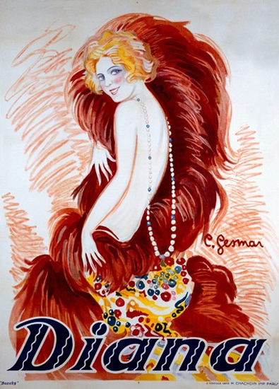 Diana Art Nouveau Girl Charles Gesmar | Sex Appeal Vintage Ads and Covers 1891-1970