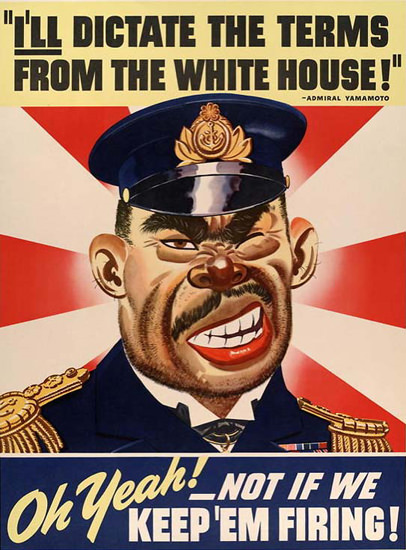 Dictate Terms From The White House Yamamoto | Vintage War Propaganda Posters 1891-1970