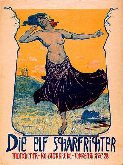 Die Elf Scharfrichter Serapion Grab 1901 Muechen | Sex Appeal Vintage Ads and Covers 1891-1970