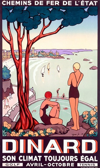 Dinard Climat Toujours Egal CFF De France | Sex Appeal Vintage Ads and Covers 1891-1970